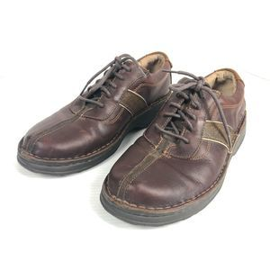 Clarks Mens Casual Brown Leather Lace Shoes 9.5 US